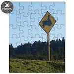 Farmer Crossing Sign Puzzle