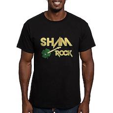Sham Rock Men's Fitted T-Shirt (dark)