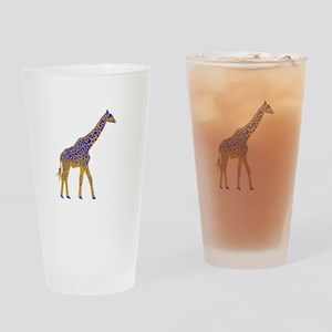 Painted Giraffe Drinking Glass