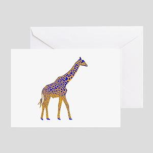 Painted Giraffe Greeting Card