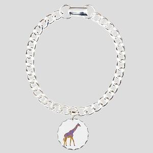 Painted Giraffe Charm Bracelet, One Charm
