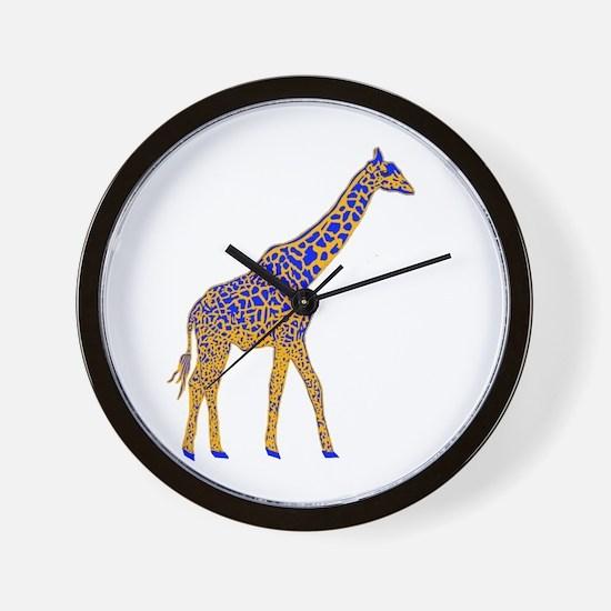 Painted Giraffe Wall Clock