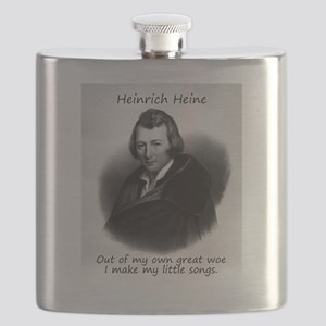 Out Of My Own Great Woe - Heinrich Heine Flask
