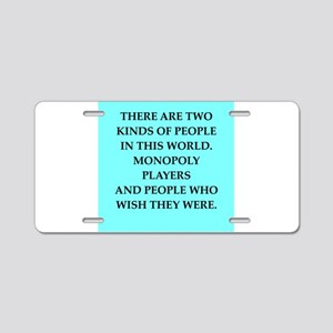 monopoly Aluminum License Plate