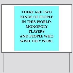 monopoly Yard Sign