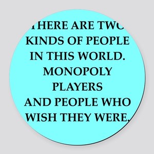 monopoly Round Car Magnet