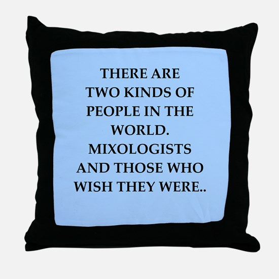 mixologist Throw Pillow