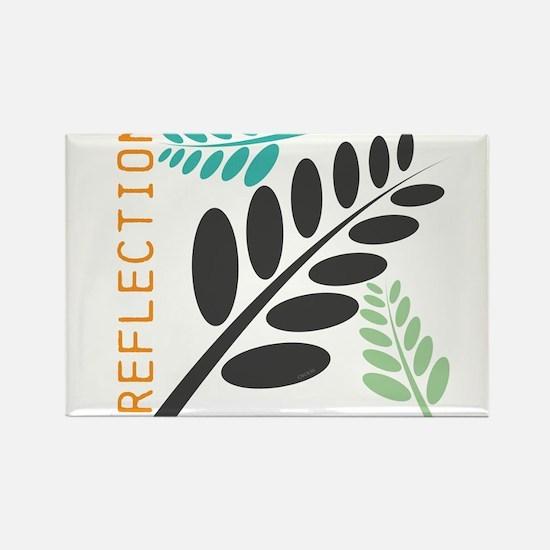 OYOOS Leaf design Rectangle Magnet
