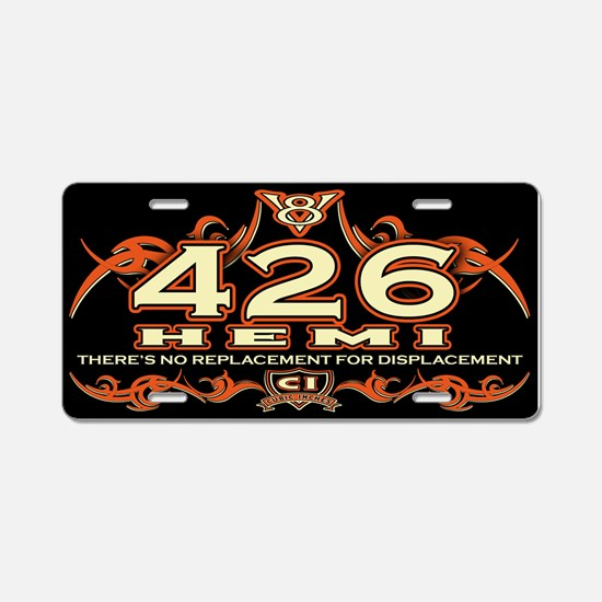 426 HEMI Aluminum License Plate