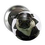 """Biker Pug 2.25"""" Button (100 pack)"""