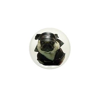Biker Pug Mini Button (10 pack)