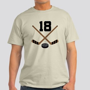 Hockey Player Number 18 Light T-Shirt