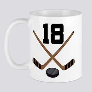 Hockey Player Number 18 Mug