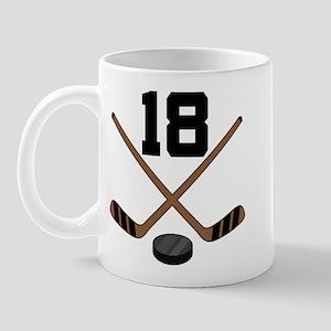 Hockey Player Number 18 Mug