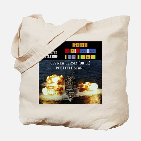 USS NEW JERSEY (BB-62) Tote Bag