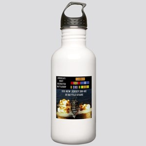 USS NEW JERSEY (BB-62) Stainless Water Bottle 1.0L