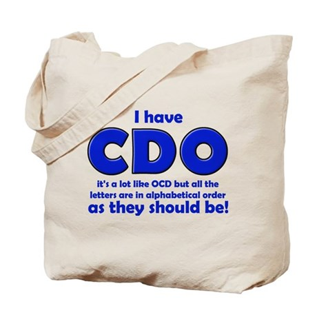 OCD CDO Funny T-Shirt Tote Bag