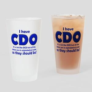 OCD CDO Funny T-Shirt Drinking Glass