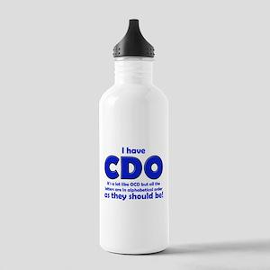 OCD CDO Funny T-Shirt Stainless Water Bottle 1.0L