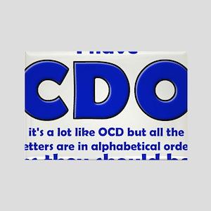 OCD CDO Funny T-Shirt Rectangle Magnet