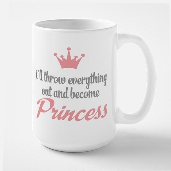 funny princess Large Mug