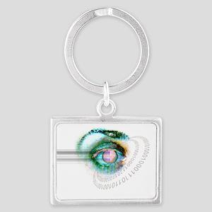 Iris scanning - Landscape Keychain