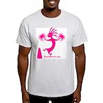 Kokopelli Cheerleader Ash Grey T-Shirt