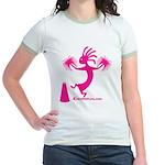 Kokopelli Cheerleader Jr. Ringer T-Shirt