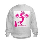 Kokopelli Cheerleader Kids Sweatshirt