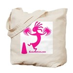 Kokopelli Cheerleader Tote Bag