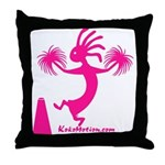 Kokopelli Cheerleader Throw Pillow