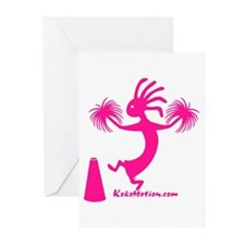 Kokopelli Cheerleader Greeting Cards (Pk of 10