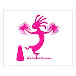 Kokopelli Cheerleader Small Poster