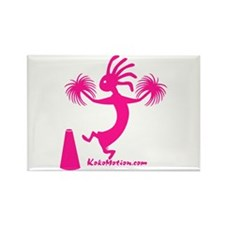 Kokopelli Cheerleader Rectangle Magnet (10 pack)