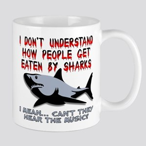 Danger Music Sharks Funny T-Shirt Mug