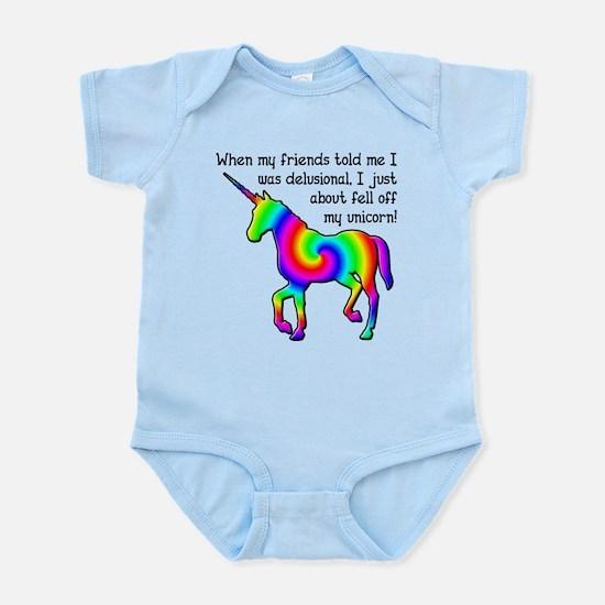 Delusional Unicorn Funny T-Shirt Infant Bodysuit