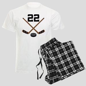 Hockey Player Number 22 Men's Light Pajamas
