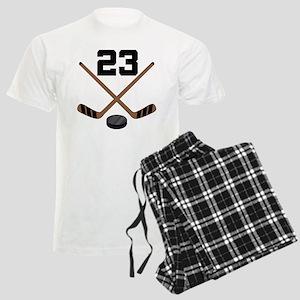 Hockey Player Number 23 Men's Light Pajamas