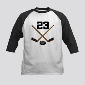 Hockey Player Number 23 Kids Baseball Jersey