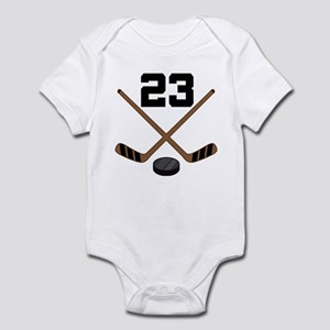 Hockey Player Number 23 Infant Bodysuit