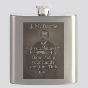 If You Believe - J M Barrie Flask