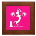 Kokopelli Cheerleader Framed Tile