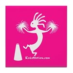 Kokopelli Cheerleader Tile Coaster