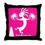 Kokopelli Cheerleader Throw Pillow