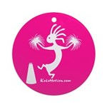 Kokopelli Cheerleader Ornament (Round)