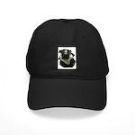 Biker Pug Black Cap
