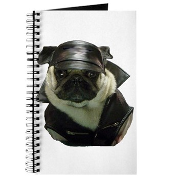 Biker Pug Journal