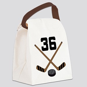 Hockey Player Number 36 Canvas Lunch Bag