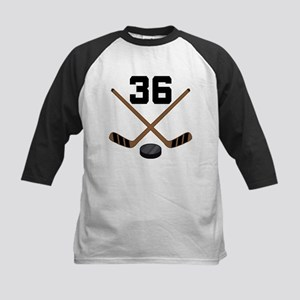 Hockey Player Number 36 Kids Baseball Jersey
