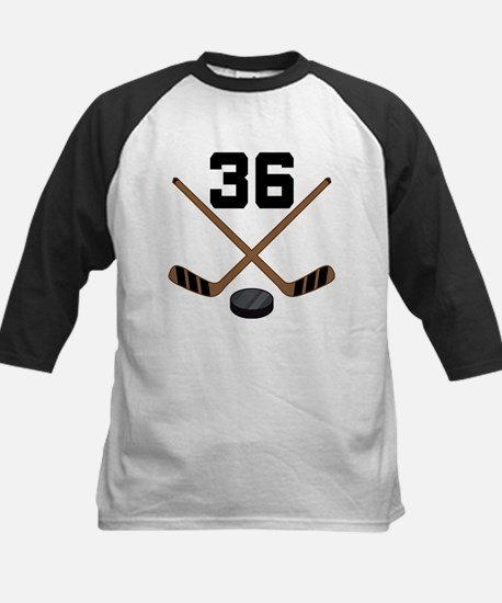 Hockey Player Number 36 Kids Baseball Jersey